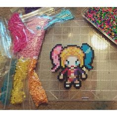 Harley Quinn Suicide Squad perler by poizonazn