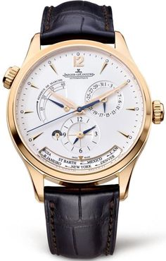 Jaeger LeCoultre Watch Master Geographic Rose Gold Sale! Up to 75% OFF! Shop at Stylizio for women's and men's designer handbags, luxury sunglasses, watches, jewelry, purses, wallets, clothes, underwear #luxuryjewelrypackaging