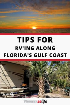 Are you are planning a rv trip to Florida's Gulf Coast? Whether you are a full-time rv'er, a weekend warrior, or planning a road trip then look no further for great trip destinations. Here are the best tips to make it a trip to remember. From campsite suggestions, state & private campground recommendations, to local attractions, and so much more. Enjoy the sunshine state! #WinnebagoLife #Florida #GulfCoast #RVLife #FullTimeRVing #FloridasGulfCoast Ways To Travel, Rv Travel, Travel Tips, Travel Destinations, Florida Camping, Florida Travel, Private Campgrounds, Perfect Road Trip, Road Trip Adventure