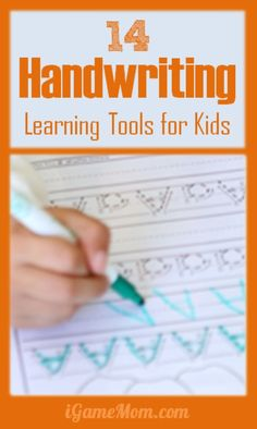14 handwriting learning tools for kids, from pre-writing activities, to tracing worksheets, including learning tools available on tablets like iPad, computer, and printables