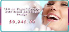 Sani Dental, located in Los Algodones, #Mexico, offers an affordable All on Eight System with fixed #porcelainbridge package, so that each patient would have a chance to get the perfect and bright #smile, anyone longs for. Bridges act like permanent implants or #dentures, and help replace teeth that have fallen out.
