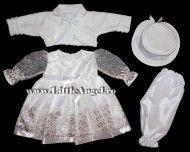 Costum de botez cu rochita si bolero ELIANA