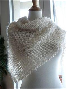 Châle au tricot - Tuto gratuit pas à pas...