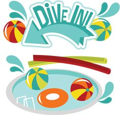 Dive In! SVG Scrapbook Collection swimming pool svg file swimming cut file for scrapbooking