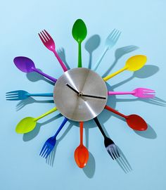 Fork and Spoon Wall Clock Kitchen clocks Clocks and Kitchens