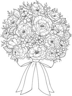 Coloring Pages Flowers And Hearts. Coloring page Flowers, Free to print. Here you can find our coloring pages flowers for free printing. In the coloring pages we have ros. Flower Coloring Pages, Mandala Coloring, Coloring Book Pages, Printable Coloring Pages, Coloring Sheets, Coloring Pages For Kids, Free Coloring, Dover Publications, Colorful Pictures
