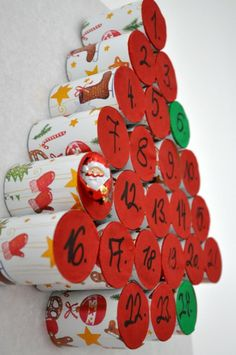 Pukkanós adventi naptár - Masni, Paper roll advent calendar DIY