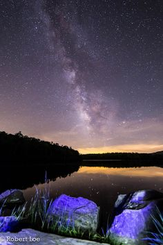 A Night Below The Milky Way  Price Lake located at Blowing Rock, North Carolina