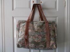 Large, Vintage style, weekend, carpet bag, oversize £25.00