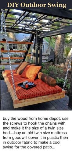 DIY Outdoor Swing Pictures, Photos, and Images for Facebook, Tumblr, Pinterest, and Twitter