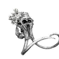 Frida Khalo elephant Skull