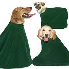 Microfiber Pet Towel Robe for Dogs Small * Continue to the product at the image link.(This is an Amazon affiliate link and I receive a commission for the sales)