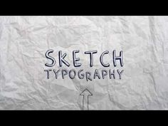 sketch typography - After Effects Template