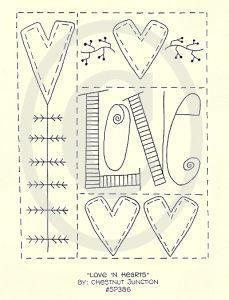 embroidery patterns heart - Cerca con Google