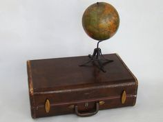Vintage Alligator Suitcase; Faux Alligator; Vintage Luggage; Vintage Suitcase; Vintage Trunk; Vintage Samsonite; Travel Theme by PurpleMouseStories on Etsy