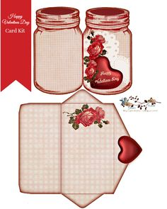Free Happy Valentines Day Card Kit