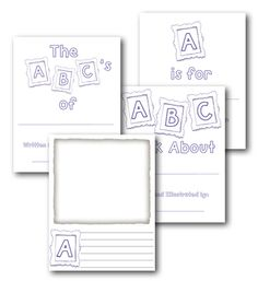 ABC book template...cute end of the year activity. ABC's of third grade...