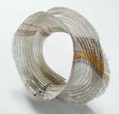 Kazumi Nagano - bracelet - silver, gold, palladium, nylor