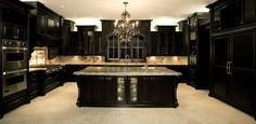This Kitchen was created by my Friends at Rocpal..Don't be afraid of Dark..it has built in Drama which is undeniable to anyone who walks in. Holy crap! Love