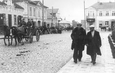 Lithuania, 1939, A street in the Jewish Quarter. Life would soon turn to death for these fine Jewish citizens