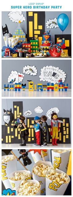 Is it a bird? Is it a plane? It's a LEGO DUPLO superhero birthday party, that's what! Find tips and instructions for throwing your own superhero birthday party here: http://www.lego.com/da-dk/family/articles/how-to-build-a-super-hero-birthday-party-70f5e199222a4a728a598dd49916b4d2