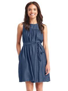 tencel swing dress in warm blue [affiliate link]