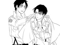 They just have this cute little father son relationship. Seriously though where is Eren's actual dad??