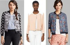 Some of our favorite on-trend bomber jackets this season come from Free People and Club Monaco.