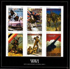 Nevis 2014 MNH World War I 100th Anniversary I 6v M/S WWI First War Posters