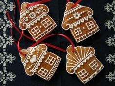 Christmas decorations Honey gingerbread Production and sale - Deco noel Easy Christmas Cookie Recipes, Christmas Desserts, Christmas Treats, Christmas Baking, Holiday Treats, Christmas Decorations, Crazy Cookies, Gingerbread Cookies, Christmas Cookies