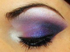 Purple makeup