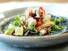 Ceviche med torsk og koriander