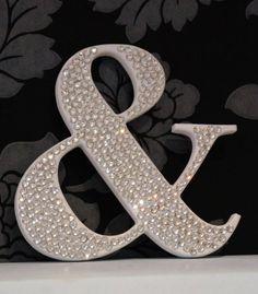 Crystal Rhinestone Letters / Bling Wedding Letters / Wedding Decoration / 20cm