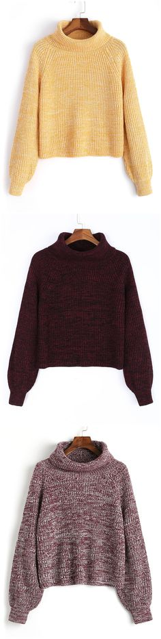 b8368272ba7 Turtleneck Heathered Pullover Sweater