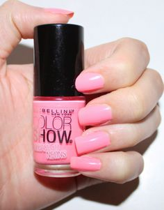 Maybelline Pink Punch Nail Polish Swatch