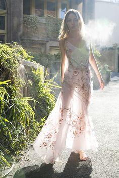 DR8195  nurture her dress silk hand embroidered organza blossom pink #nevenka #madeinmelbourne #melbourne #fashion #vintage #european #lace #collection #love #fashion #boutique #custom #floral #flower #fabric #bespoke www.nevenka.com.au