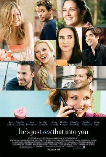 He's Just Not That Into You.                          Nine people in Baltimore deal with their respective romantic problems, usually thwarted by the differing ideals and desires of their chosen partner. At the center of this is Gigi (Ginnifer Goodwin), a young woman who repeatedly misinterprets the behavior of her romantic partners.