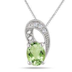 1.55 Carat Peridot and Diamond Pendant Set $22 http://www.cyber-week.com/coupon/1-55-carat-peridot-and-diamond-pendant-set-22/