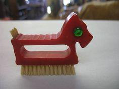 Bakelite Scottie Dog Scrubbing Brush