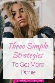 Life can be busy and hectic. Here I share three simple strategies that can help you start being more productive today. You Fitness, Fitness Motivation, Improve Productivity, Time Management, Personal Development, Simple, Hero, Business Tips, Mom