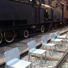 Fuorisalone 2012 - Tom Dixon Aluminium Chair at Most (close to an old train) - Museo della Scienza e della Tecnica