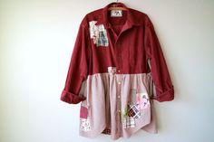 2X 3X Plus Size Clothing Artsy Shirt Jacket by BentEdgeAlchemy