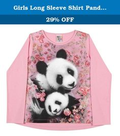 Girls Long Sleeve Shirt Panda Graphic Tee Kid Pulla Bulla 2-4 Years - Light Pink. Look at this Long sleeve t-shirt that comes in three solid colors. Features a floral print design with a mom and a panda bear cub. The graphic on the tee is a momma panda and a baby panda hugging, around them there are many pink flowers. This shirt also features a crew neckline. Pulla Bulla authentic collections of children apparel are made exclusively in Brazil and shipped to our customers worldwide from…