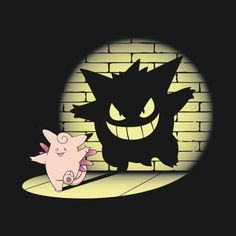 Awesome 'Clefable+%3D+Gengar' design on TeePublic!