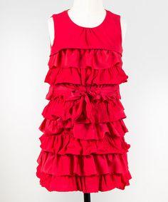Look at this #zulilyfind! Red Ribbon Candy Dress - Toddler & Girls #zulilyfinds