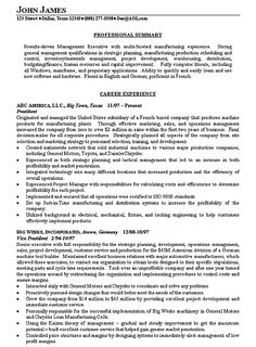 Example Of A Summary For A Resume Amazing Manufacturing Operations Resume Example  Resume Examples And Sample .