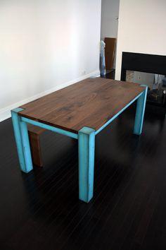Dining Table, industrial modern. $2,200.00, via Etsy.