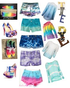 """tie dye"" by svbuer ❤ liked on Polyvore"