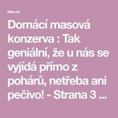Domácí masová konzerva : Tak geniální, že u nás se vyjídá přímo z pohárů, netřeba ani pečivo! - Strana 3 z 3 - teks.cz
