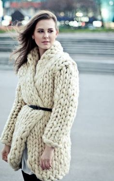 chunky knit wool jacket